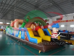 New Quality Bossaball Game Inflatable Obstacle Course Games In Pirate Theme