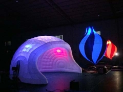 Hot Selling Event Inflatables White Inflatable Luna Tents with LED Light in Factory Price