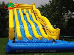 Customized Giant inflatable slide with pool