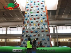 Hot Sale Sport Games Climbing Wall Inflatable Rock Climbing Mountains Paracute Ride & Rocket Ride